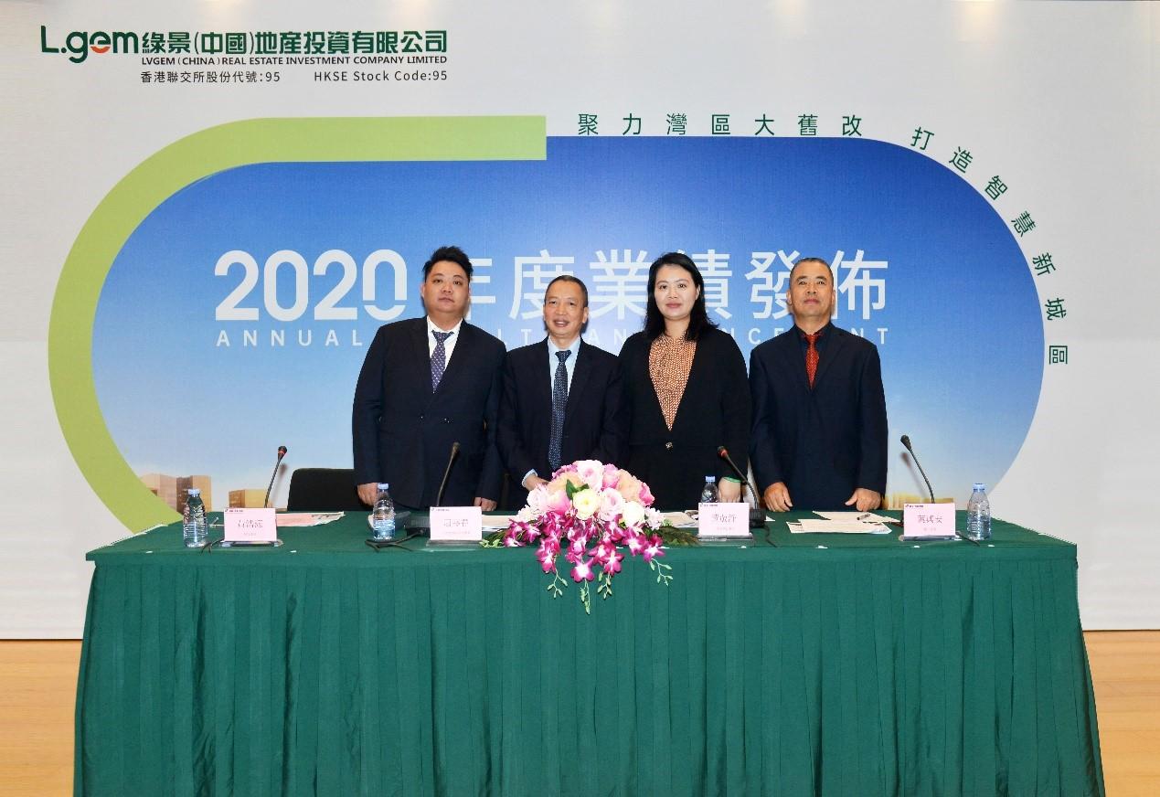 綠景(中國)公佈二零二零年全年業績